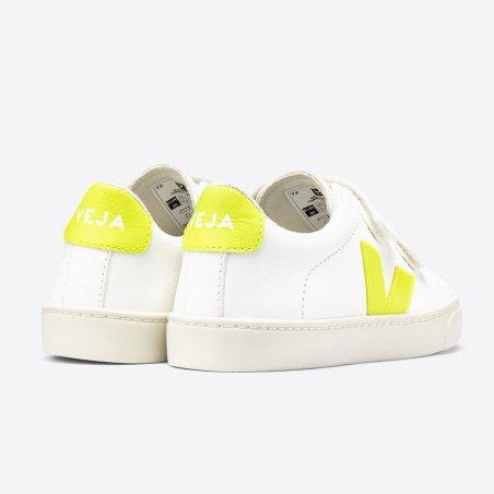 Sneakers Veja pour enfants jaune fluo