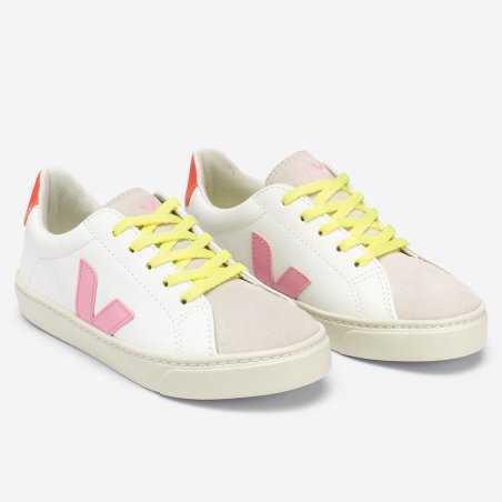 Sneakers Veja esplar lacet de couleur guimauve pour enfants