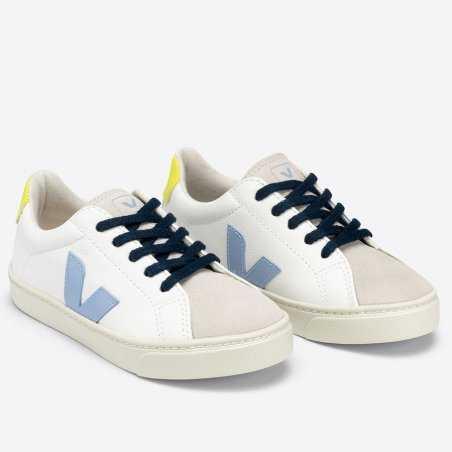 Sneakers Veja esplar lacets de couleur jaune fluo pour enfants
