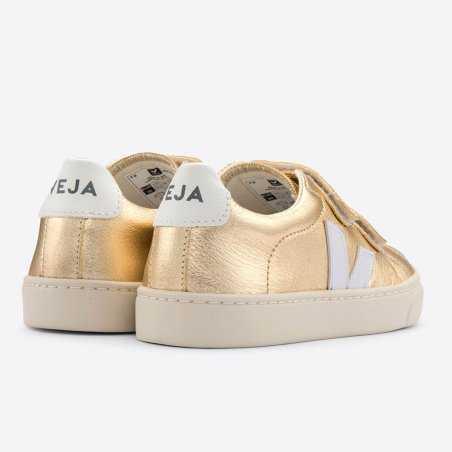 Sneakers enfants de la marque Veja de couleur doré