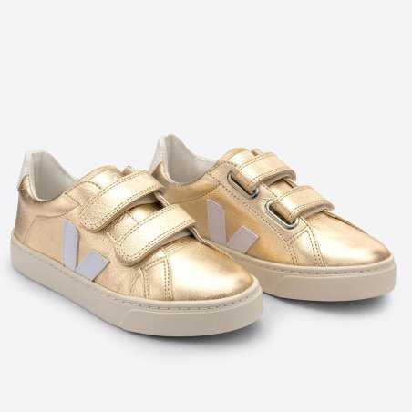 Sneakers esplar velcro doré pour enfants de la marque Veja