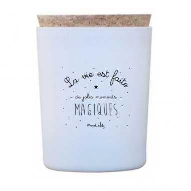 Bougie moments magiques senteur pistache de la marque Marcel et Lily