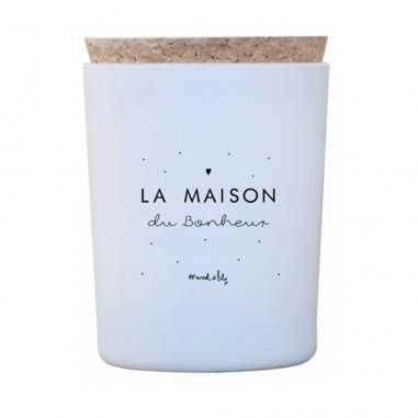 Bougie la maison du bonheur de la marque Marcel et lily