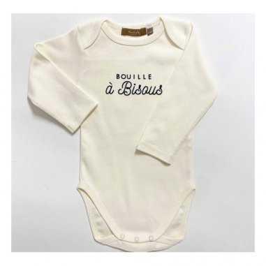 Body bouille à bisous de couleur écru pour bébés de la marque Marcel et Lily