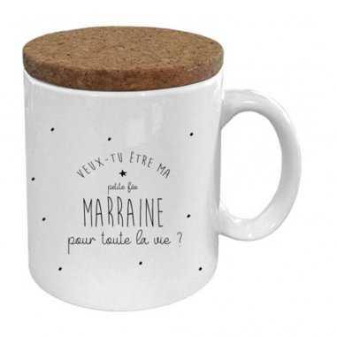 Mug veux tu être ma marraine de la marque Marcel et Lily