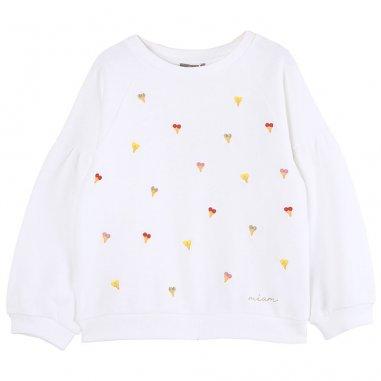 Sweatshirt écru glace pour enfants de la marque Emile et Ida