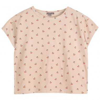 Tee-shirt de couleur crème cerises pour enfants de la marque Emile et Ida