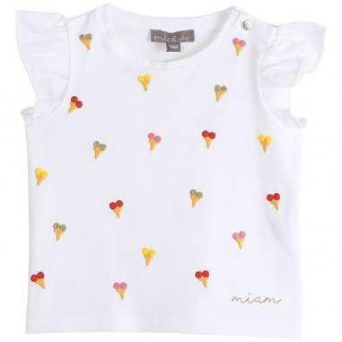Tee-shirt de couleur écru glaces pour bébés de la marque Emile et Ida