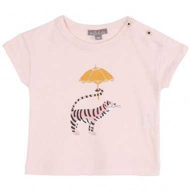 Tee-shirt de couleur rose pour bébés de la marque Emile et Ida