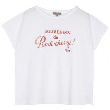 Tee-shirt écru pour enfants Emile et Ida