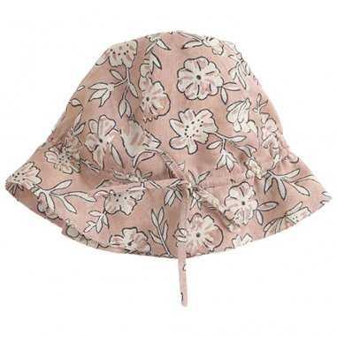 Chapeau à motifs fleurs pour bébés de la marque Emile et Ida