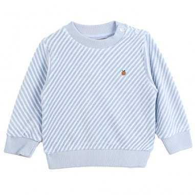 Sweatshirt à rayures de couleur bleu pour bébés de la marque Emile et Ida