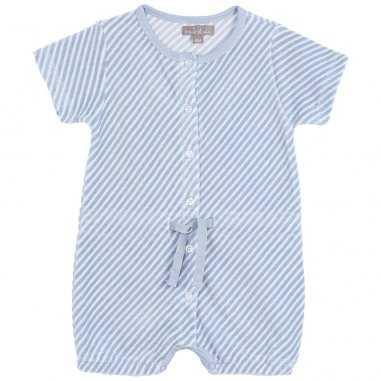 Barboteuse de couleur bleu pour bébés de la marque Emile et Ida