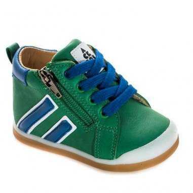 Chaussures premiers pas de couleur verte pour enfants de la marque Acebos