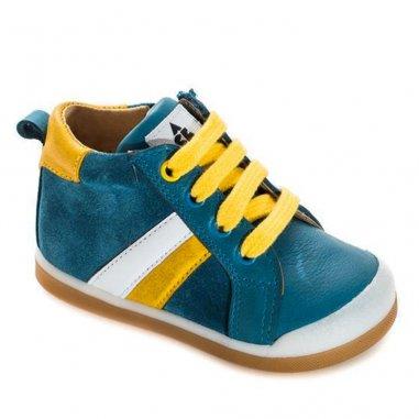 Chaussures premiers pas de couleur bleu pour enfants de la marque Acebos