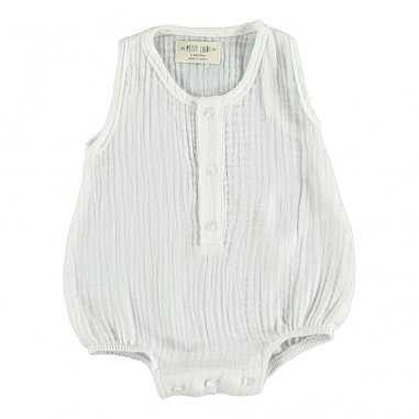 Barboteuse de couleur blanche pour bébés Petit Indi