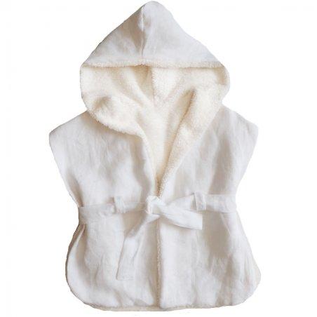 Peignoir de bain de couleur blanc pour enfants de la marque Capuchon
