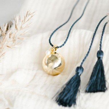Bola de grossesse alice de couleur ardoise or de la marque Pleine Lune