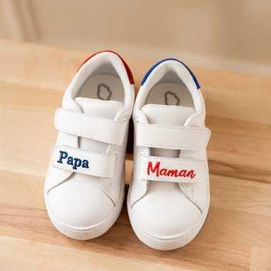 Sneakers edith papa maman pour enfants de la marque Bons Baisers de Paname