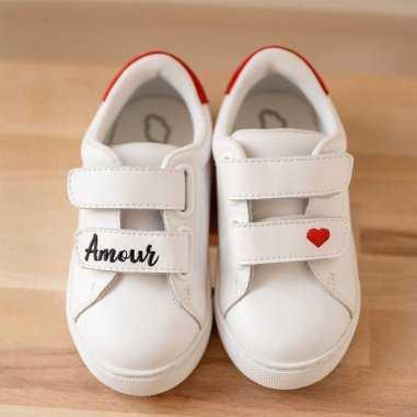Sneakers mini edith amour pour enfants de la marque Bons Baisers de Paname