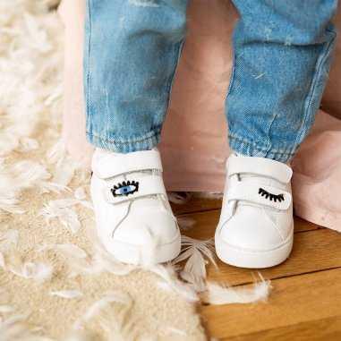 Sneakers mini edith eyes pour enfants de la marque Bons Baisers de Paname