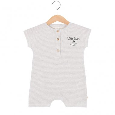 Barboteuse à inscription veilleur de nuit pour bébés de la marque Les Petites Choses