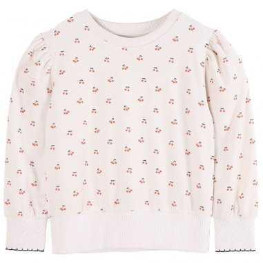 Sweatshirt en éponge cerises pour enfants de la marque Emile et ida
