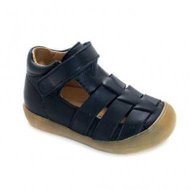 Sandales premiers pas de couleur marine pour enfants de la marque Acebos