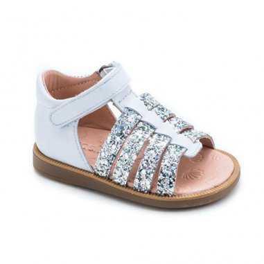 Sandales de couleur blanche pour enfants Acebos