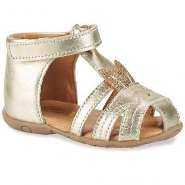 Sandales lapinou de couleur or pour enfants GBB