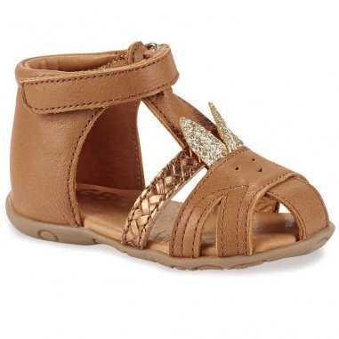 Sandales lapinou de couleur camel pour enfants GBB