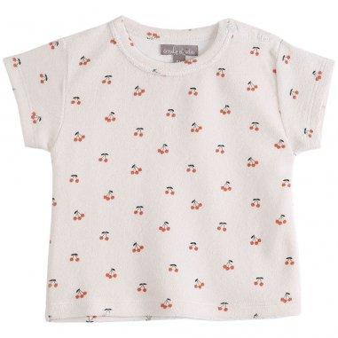 Tee-shirt cerise pour bébés de la marque Emile et Ida