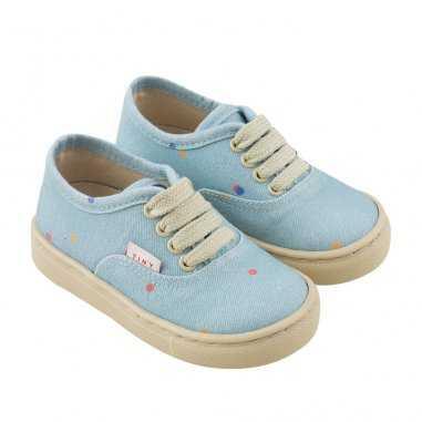 Sneakers en toile bleu ciel pour enfants de la marque Tinycottons