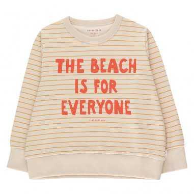 Sweatshirt the beach is for everyone pour enfants de la marque Tinycottons