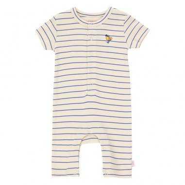 Combinaison à fines rayures pour bébés de la marque Tinycottons