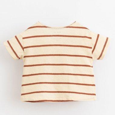 Tee-shirt à rayures rouges pour bébés de la marque Play Up