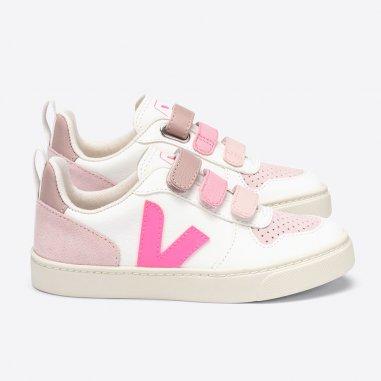 Sneakers veja v10 de couleur rose pour enfants