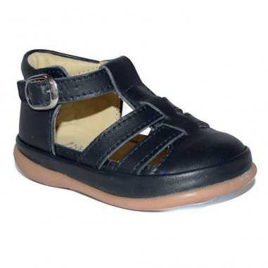 Sandales premiers pas de couleur marine pour enfants Little Mary