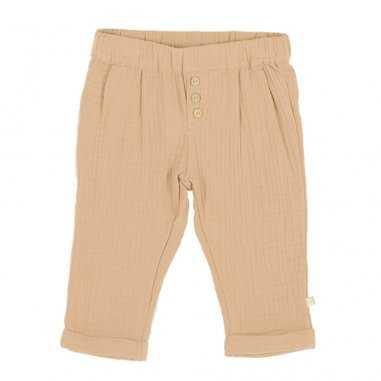Pantalon en gaze de coton de couleur camel pour enfants Les Petites Choses