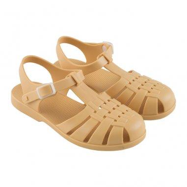 Sandales de couleur moutarde waterproof pour enfants Tinycottons