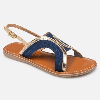 Sandales bleu et doré pour enfants et femmes de la marque L'Atelier Tropézien