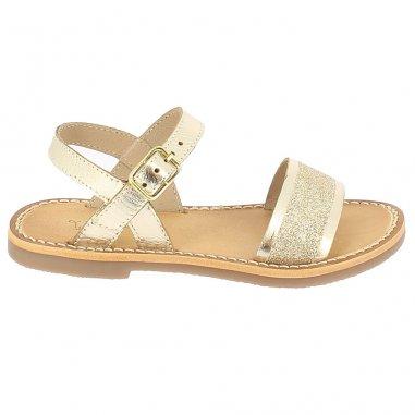 Sandales doré à paillettes pour enfants de la marque L'atelier Tropézien