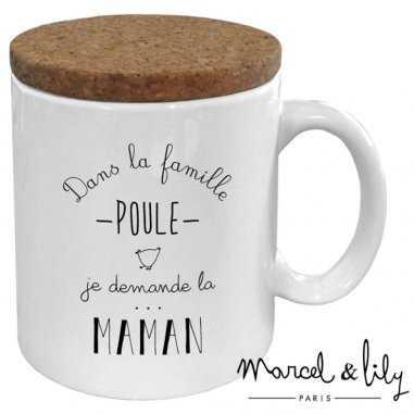 Mug maman poule de la marque Marcel et Lily