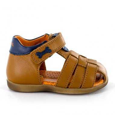Sandales camel et bleu pour enfants de la marque Stones and Bones
