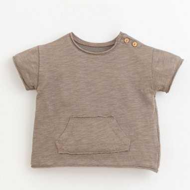 Tee-shirt marron pour bébés de la marque Play Up