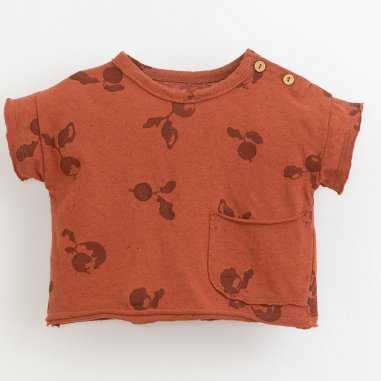 Tee-shirt rouge orangé pour enfants de la marque Play up