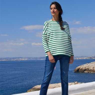 Marinière verte de grossesse pour femmes de la marque Joli Bump