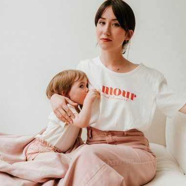 Tee-shirt allaitement amour inconditionnel de la marque French Muses