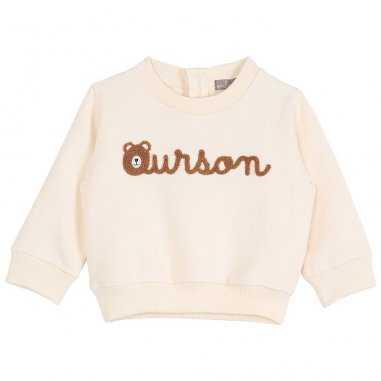 Sweatshirt ourson écru pour bébés de la marque Emile et Ida