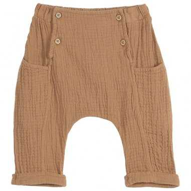Pantalon sarouel gaze de coton macchiato pour bébés de la marque Emile et Ida